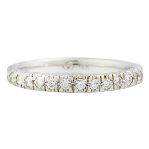 Lauren Wolf Jewelry White Diamond set in White Gold Eternity Band