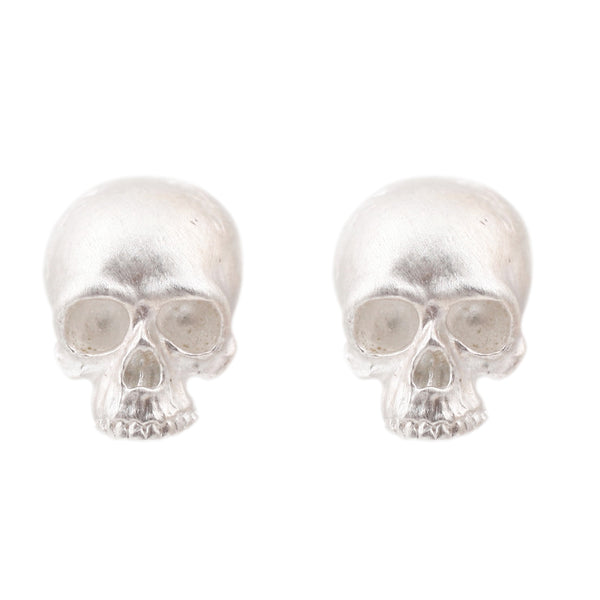 Anthony Lent Sterling Silver Skull earrings