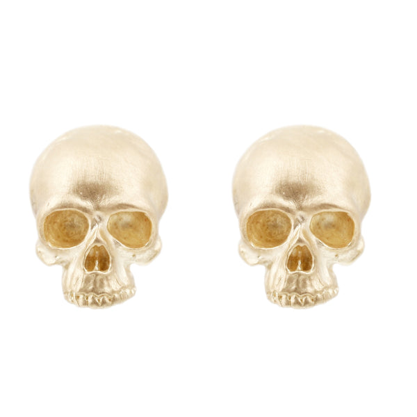 Anthony Lent Gold Skull stud earrings