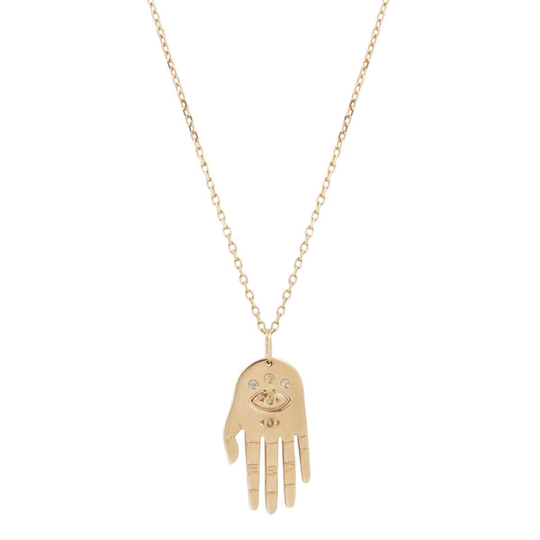Celine D'Aoust Medium Dharma Hand Necklace