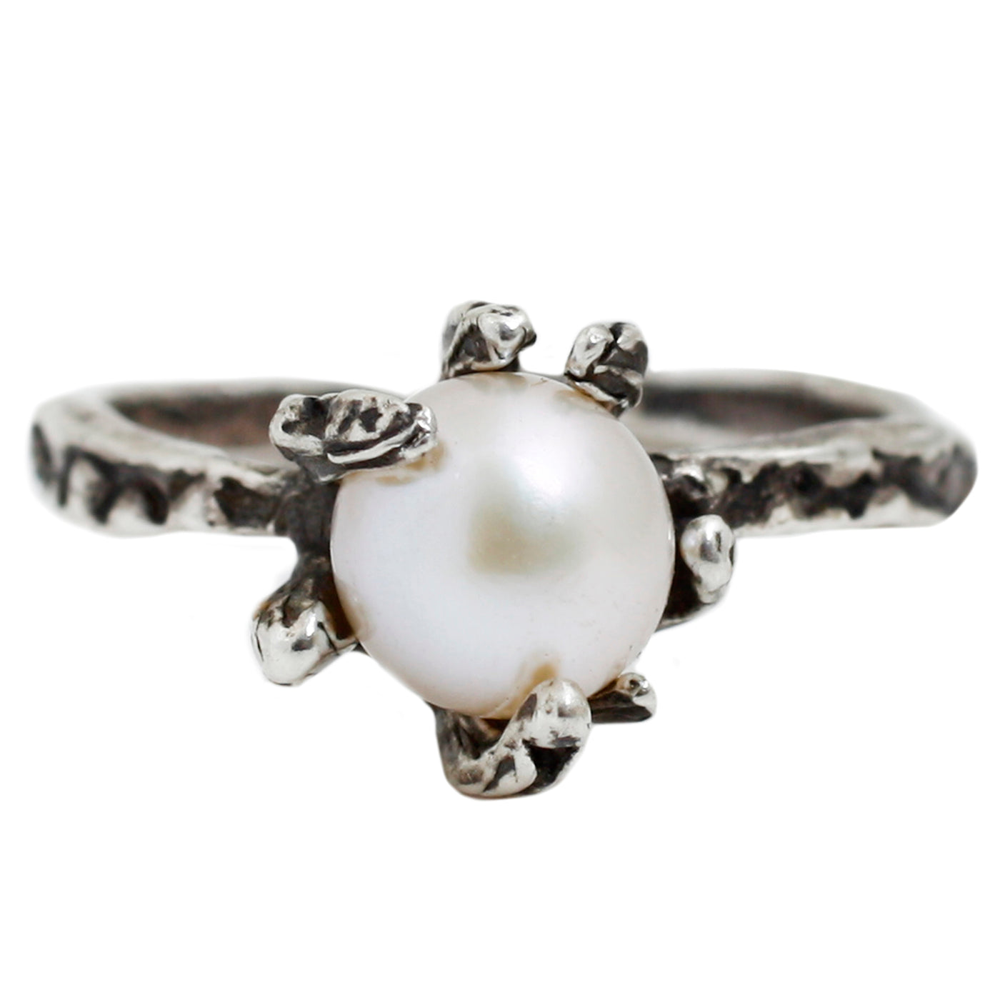 Lauren Wolf Silver Stingray Pearl Ring