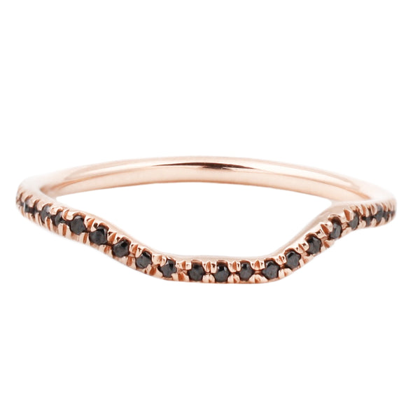 Lauren Wolf Rose Gold Eternity Nesting Band Black Diamond