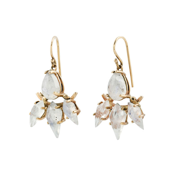 Michael Spirito Rainbow Moonstone Earrings