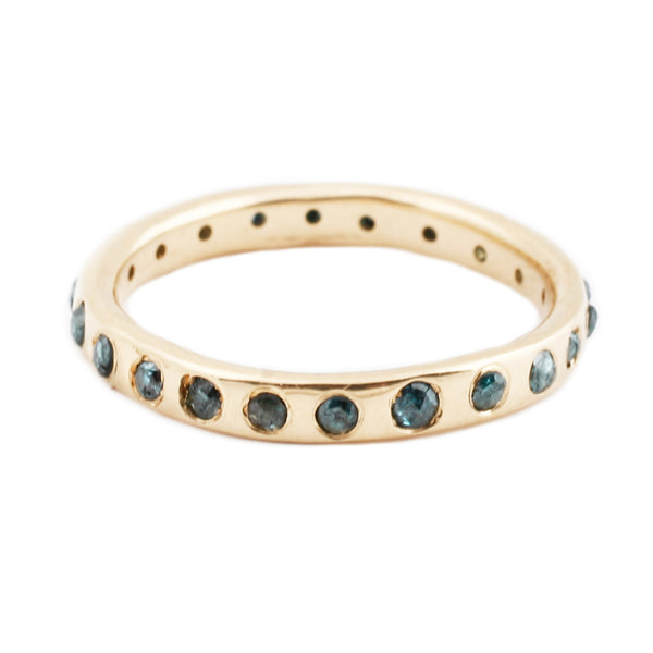 Lauren Wolf Green Diamond Eternity Band