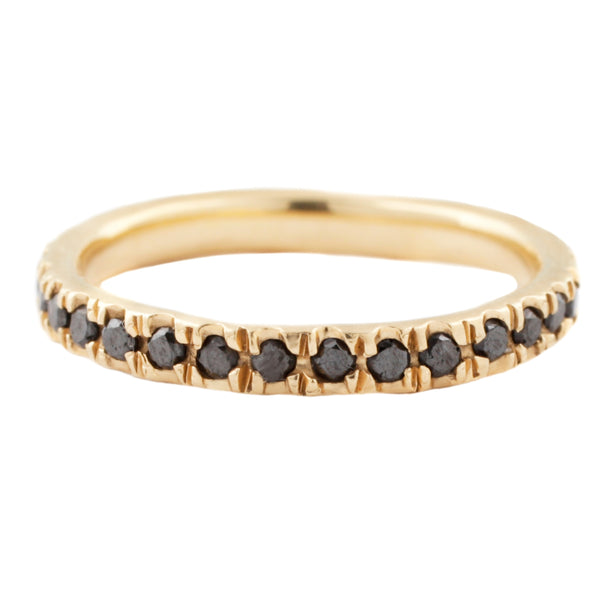 Lauren Wolf Jewelry Black Diamond Eternity Band in Yellow Gold