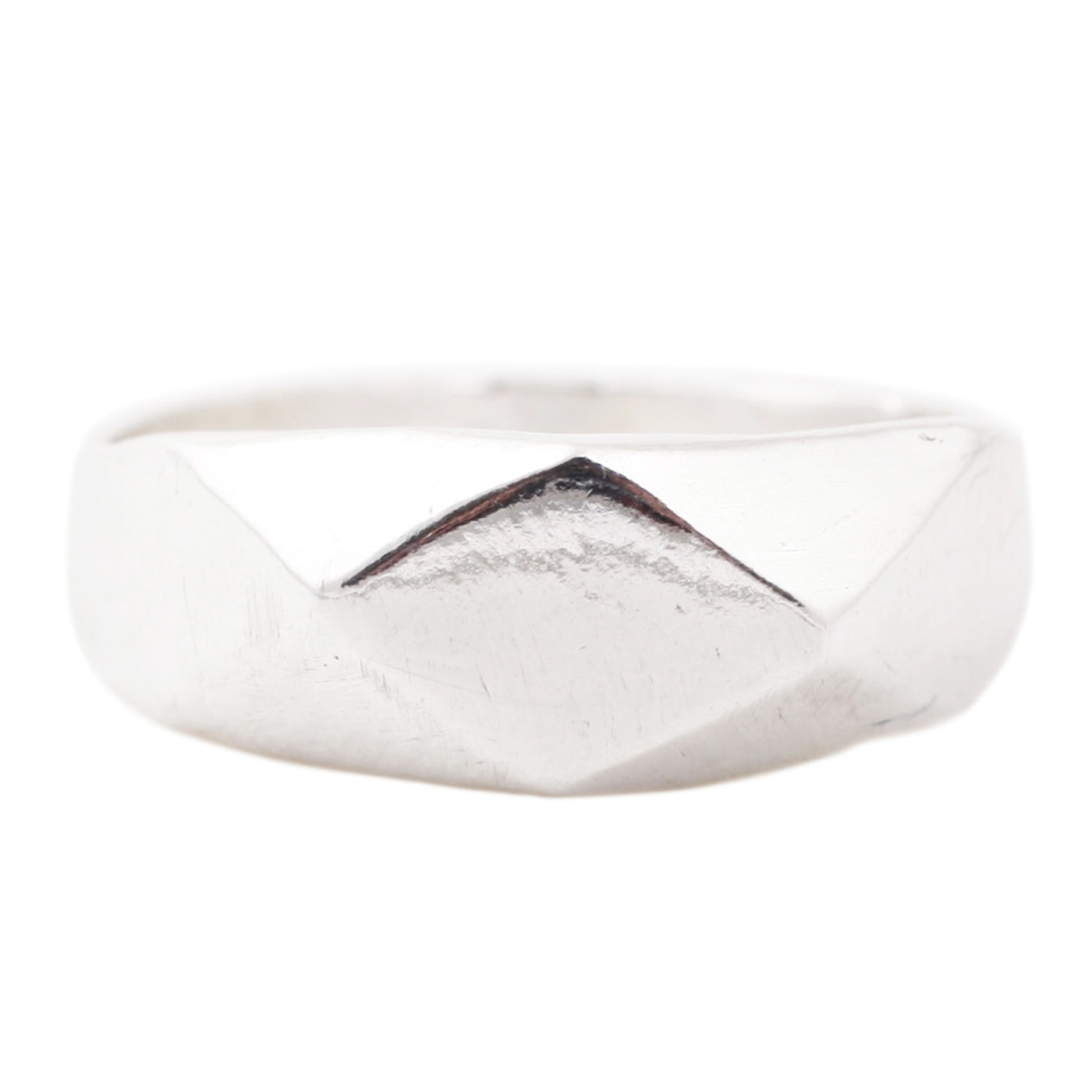 Adeline Silver Plane Signet Ring