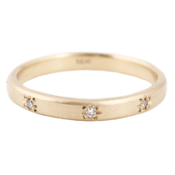 Sarah Swell Gold Starry Sky Band Ring