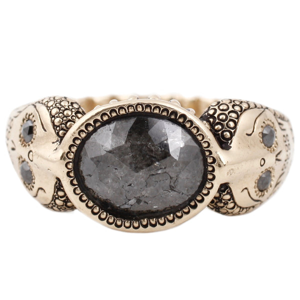 Black Diamond Cobra Ring