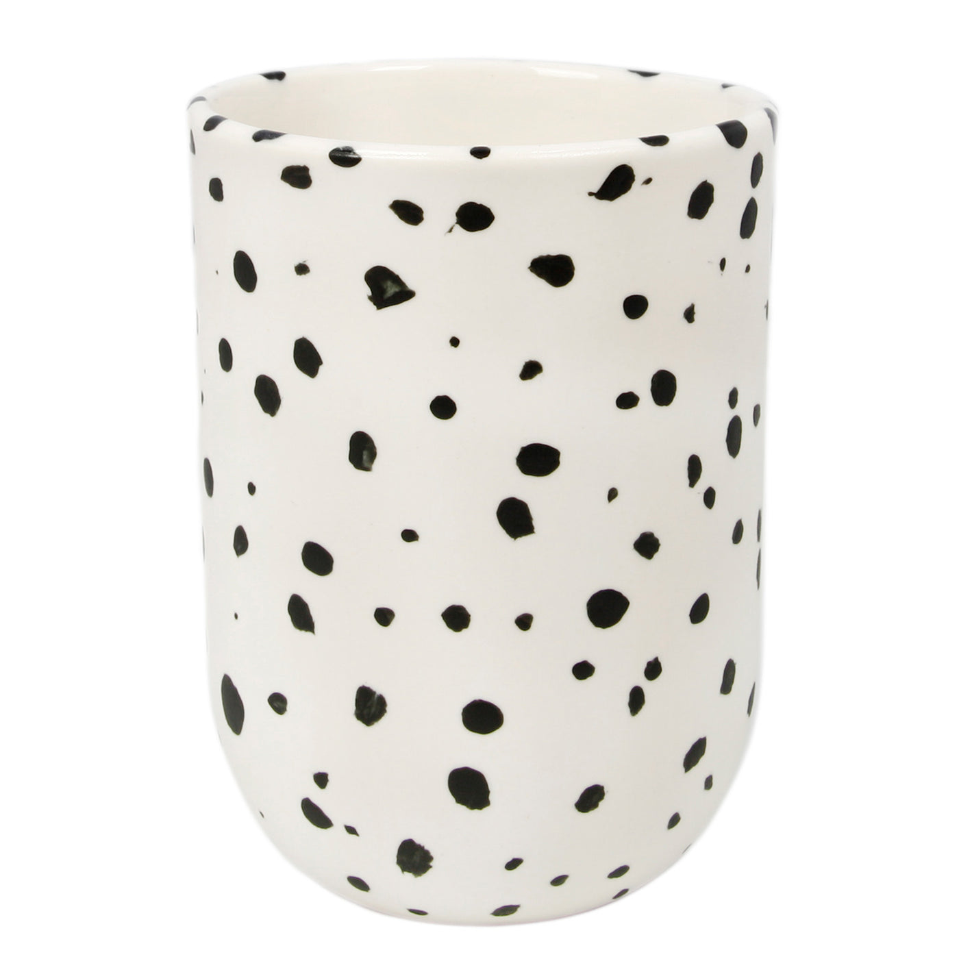 White Speckled Tall Cup