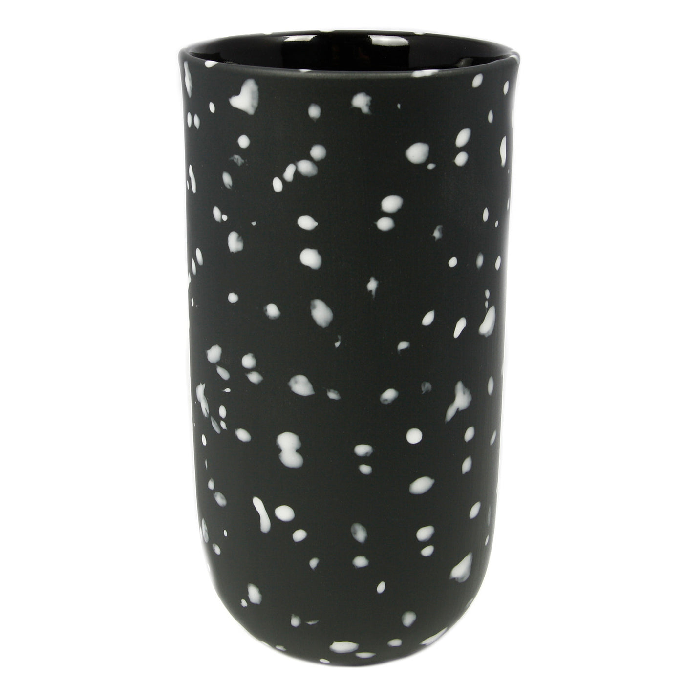 Black Speckled Vase