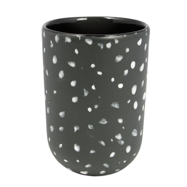 Black Speckled Tall Cup