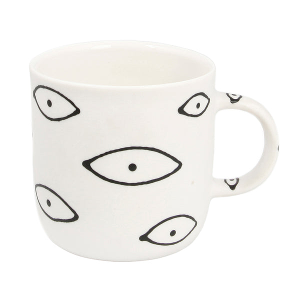 Franca large white eye mug