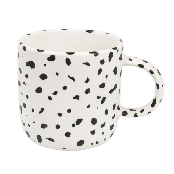 Large White Speckled Mug