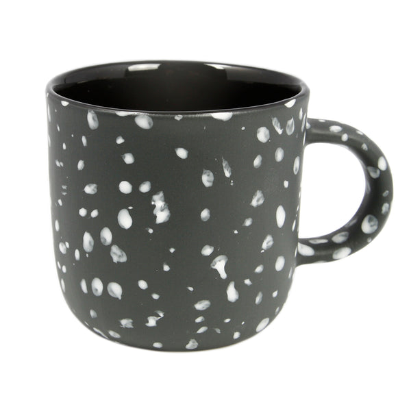 Large Black Speckled Mug