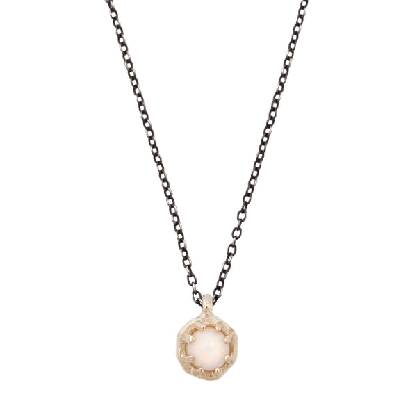 Lauren Wolf Tiny Opal Octagon Necklace