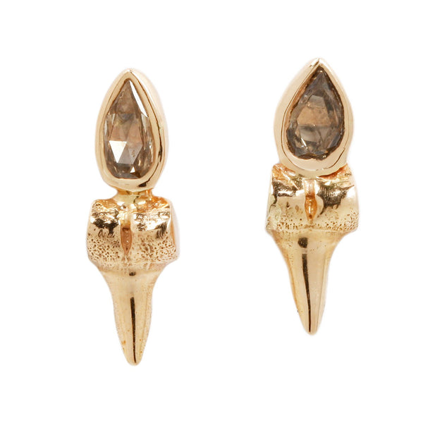 Dezso by Sara Beltran Diamond Shark Tooth Studs