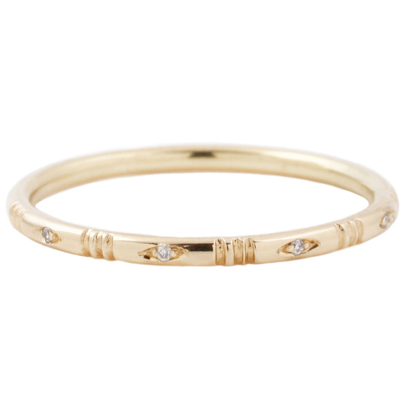 Katrina LaPenne Diamond Line Band Yellow Gold