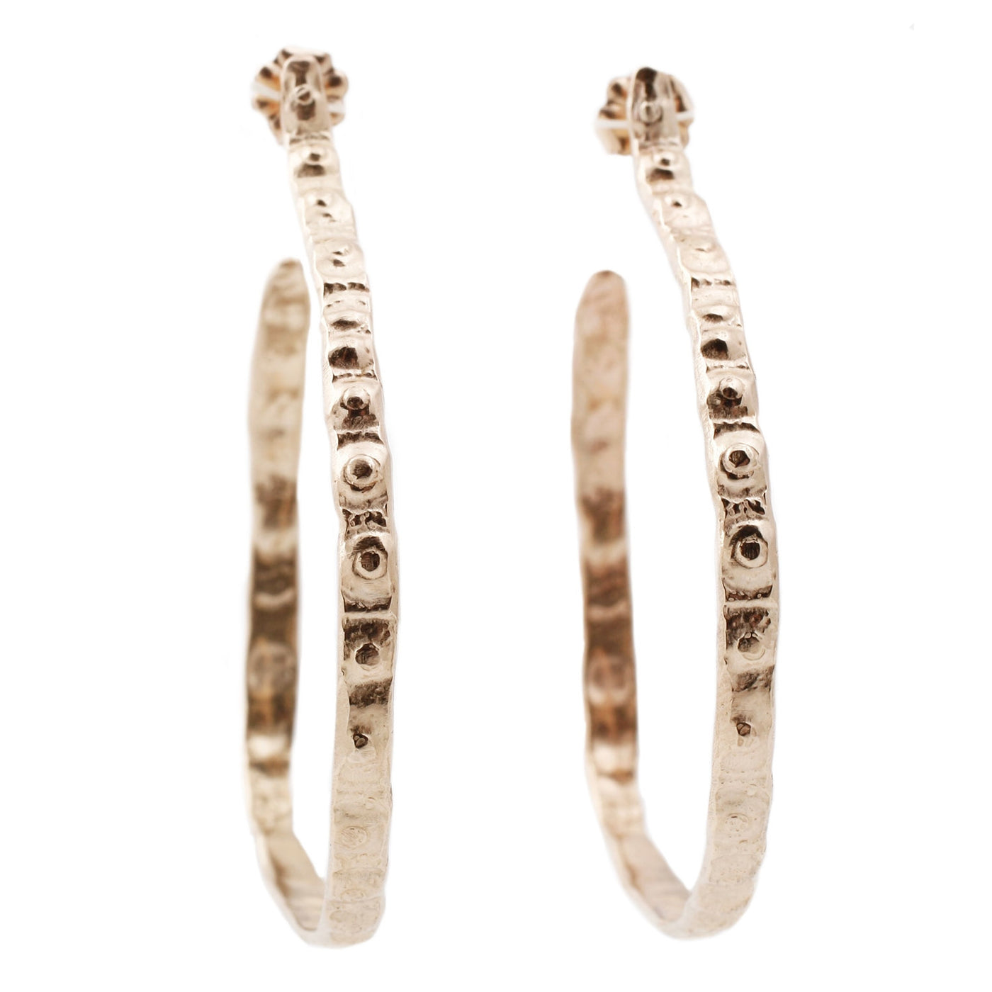 Lauren Wolf Thin Gold Urchin Hoops