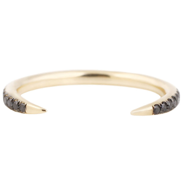 Black Diamond Open Slice Ring