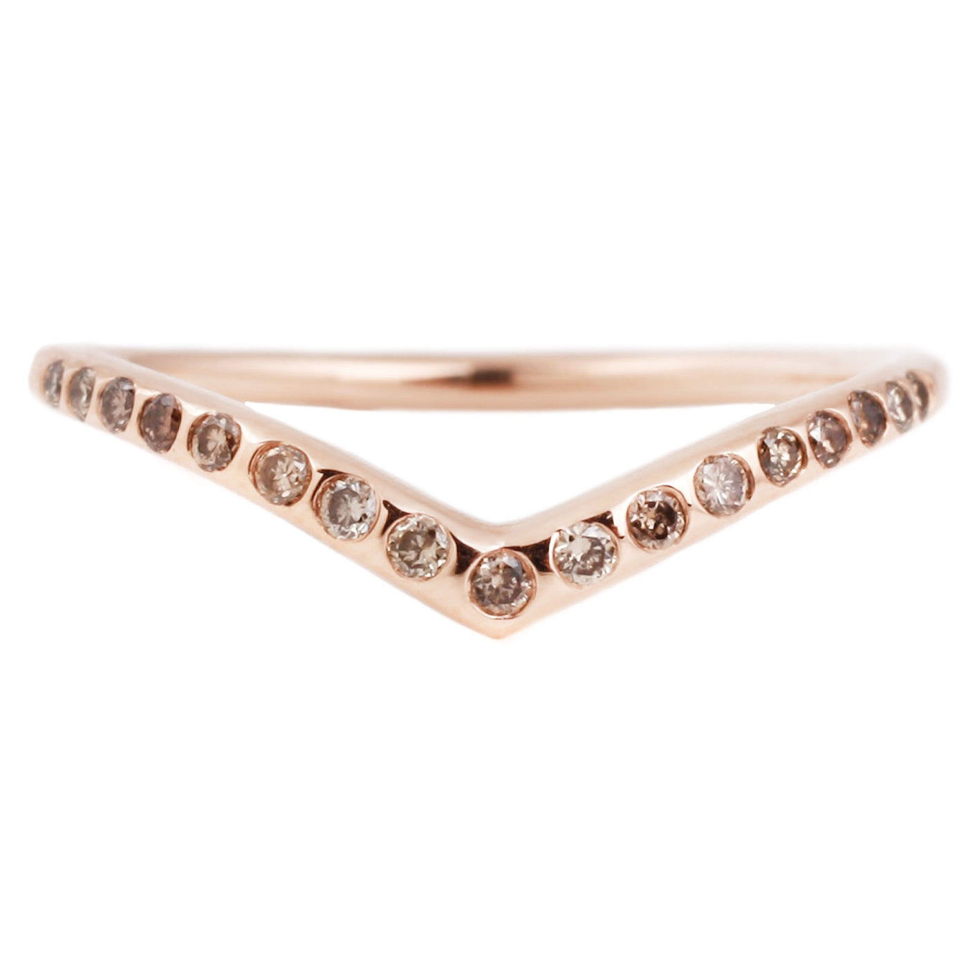 Champagne Diamond Archer Ring