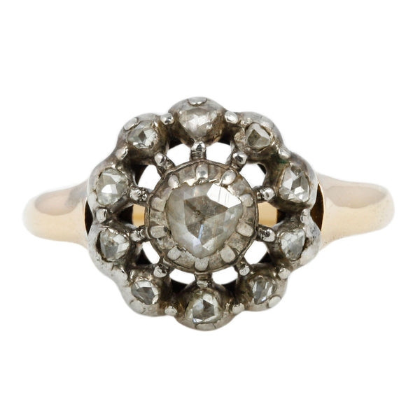 Vintage Early Victorian Diamond Flower Ring