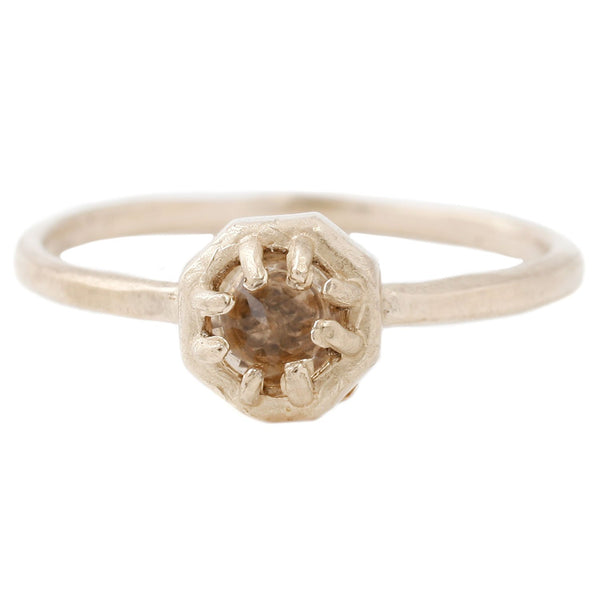 Lauren Wolf Tiny Champagne Quartz Ring