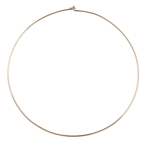 Dezso by Sara Beltran Wave Gold Wire Necklace