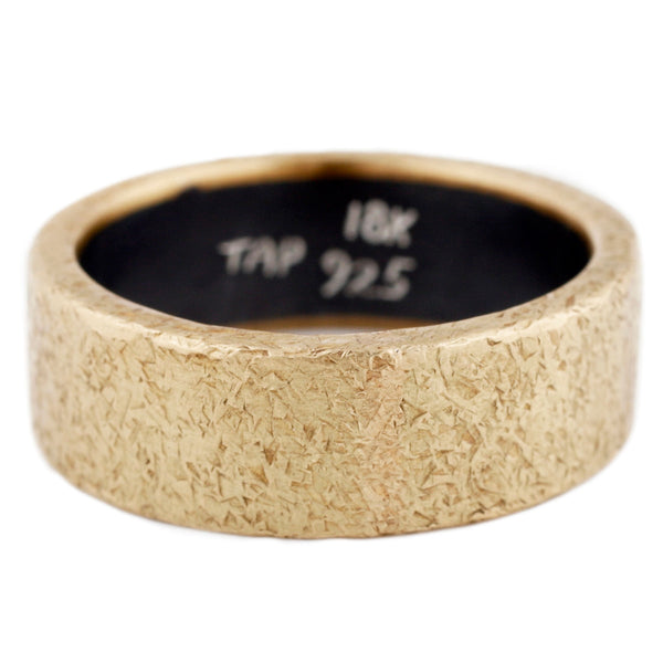 TAP by Todd Pownell Rust Band ring