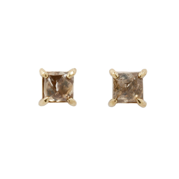 Lauren Wolf Jewelry Octahedron Diamond Studs