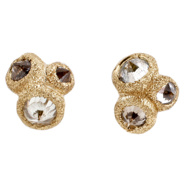 TAP by Todd Pownell Gold Inverted Diamond Stud Earrings