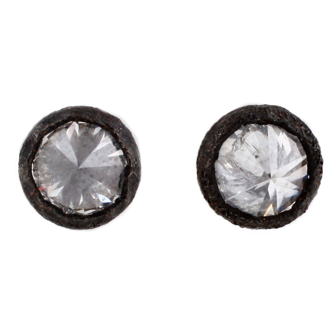 TAP by Todd Pownell Pointed White Diamond Bezel Set Stud Earrings