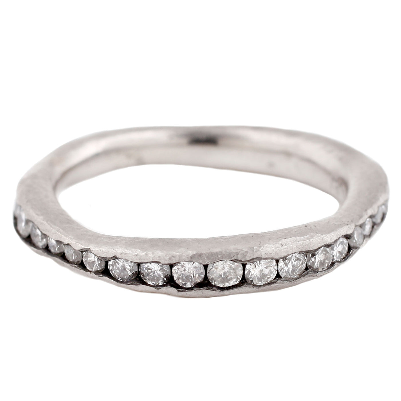 TAP by Todd Pownell White Diamond and Palladium Eternity Band Ring