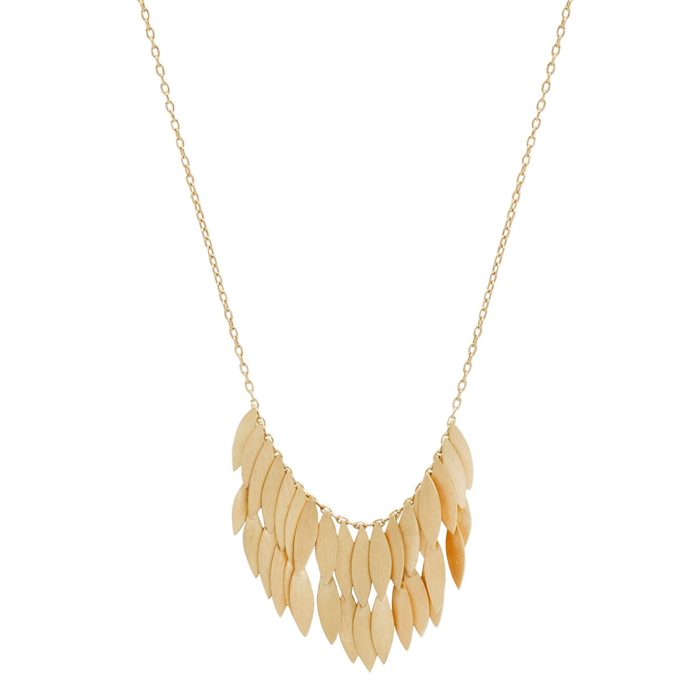 Sia Taylor Double Golden Leaf Necklace