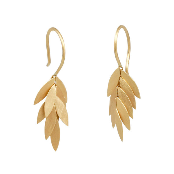 Sia Taylor Golden Cluster Leaf Earrings
