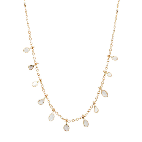 Celine Multi Diamond Slice Necklace