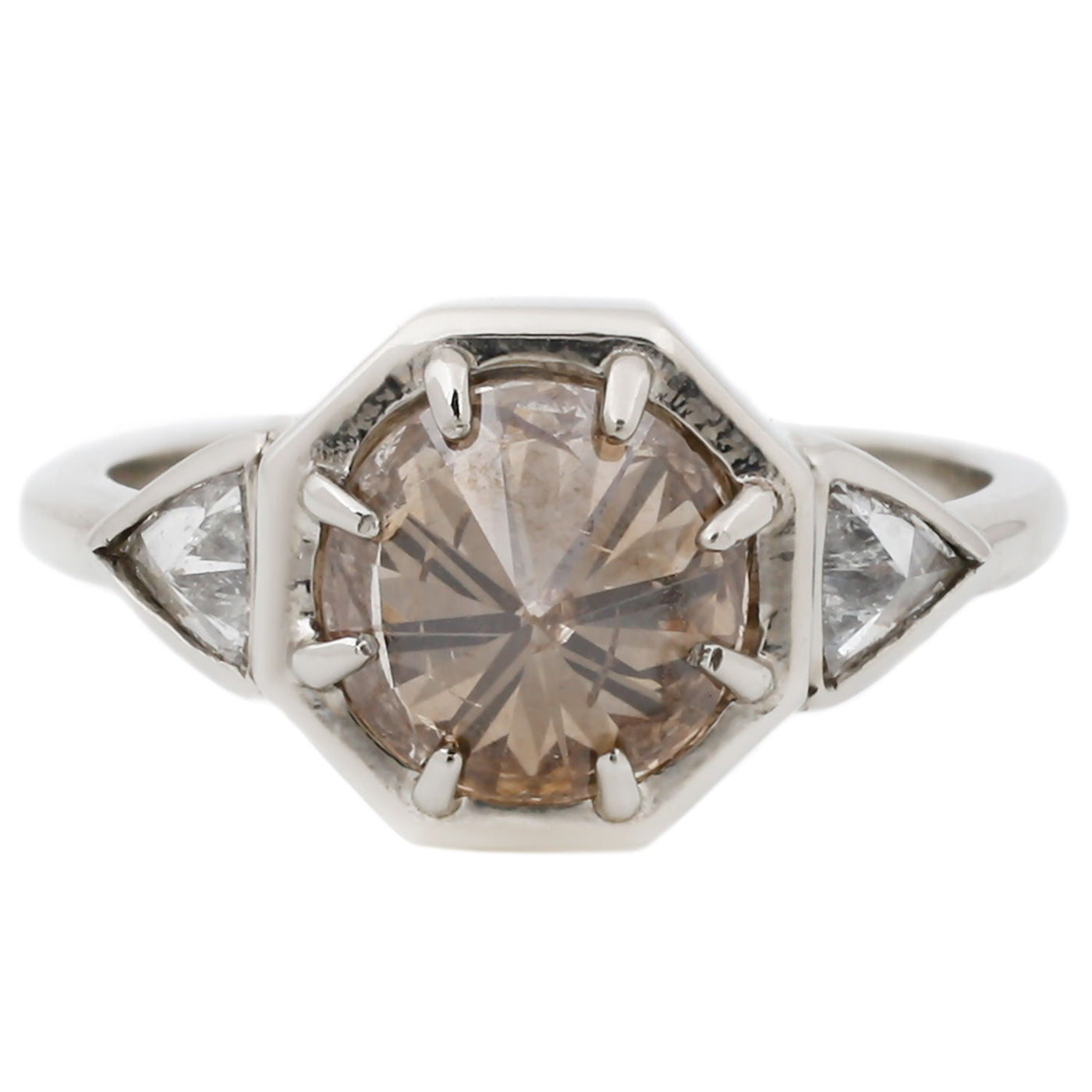 White Gold Brilliant Cut Diamond Ring Lauren Wolf