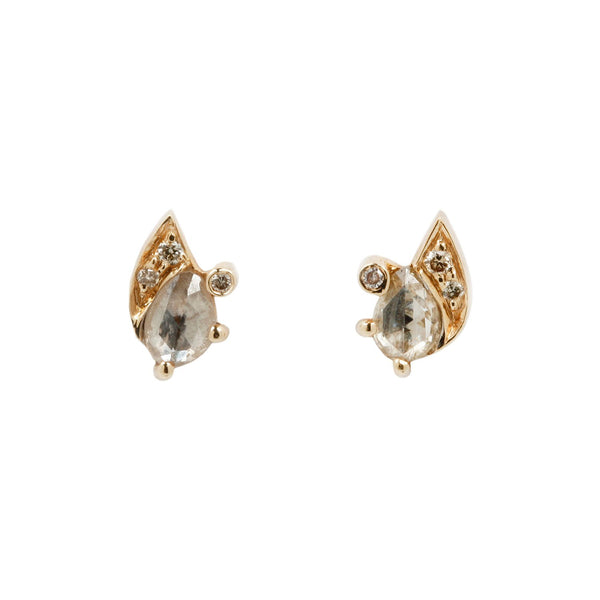 Celine D'Aoust Gray Diamond Slice Eye Studs