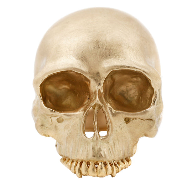Anthony Lent Gold Memento Mori skull ring