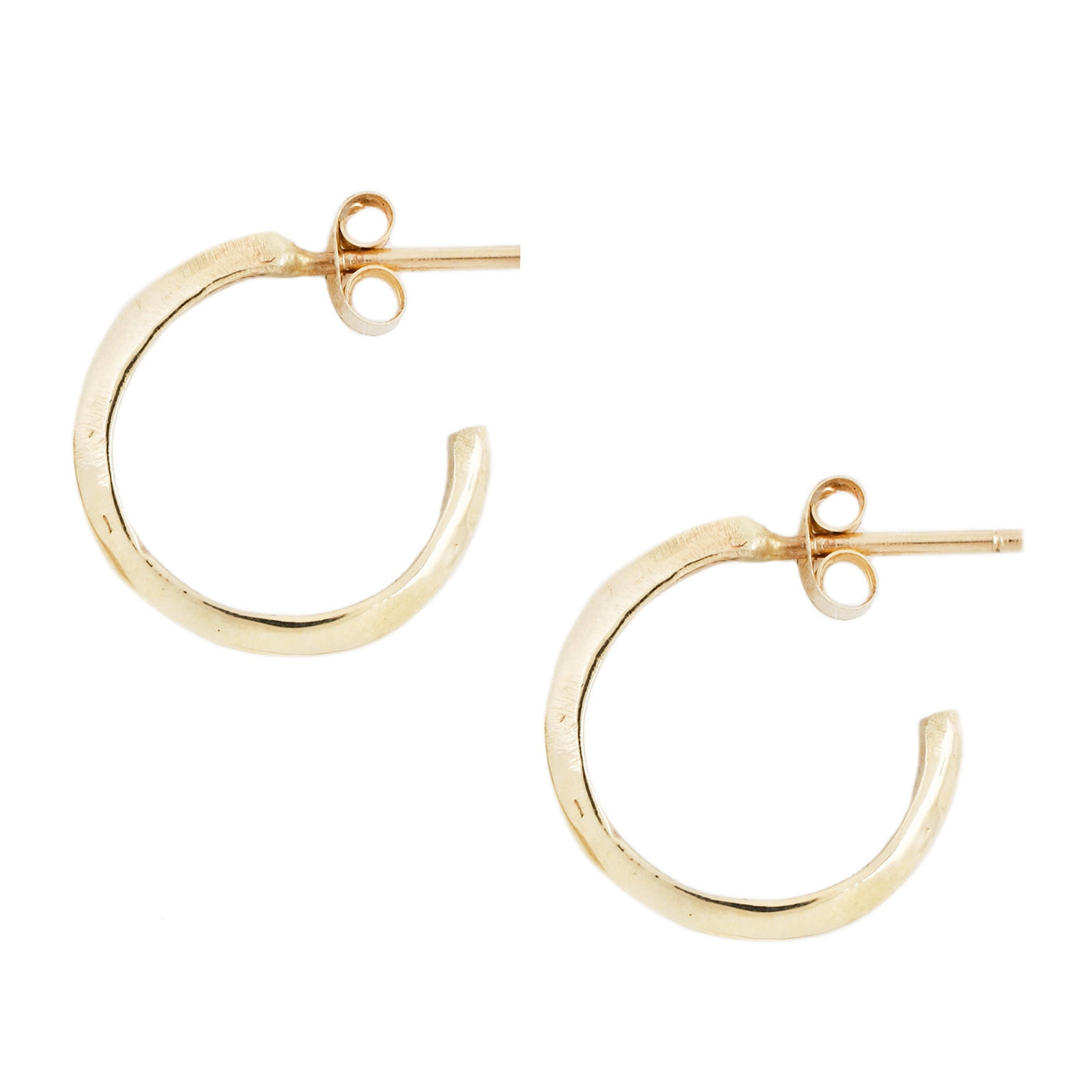 Adeline Gold Knife Edge Hoop Earrings