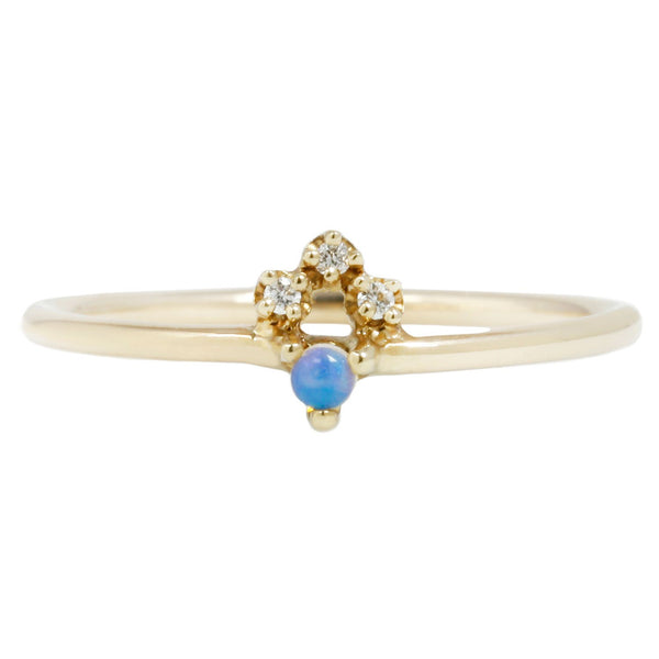 Wwake Posy Ring Opal Diamond