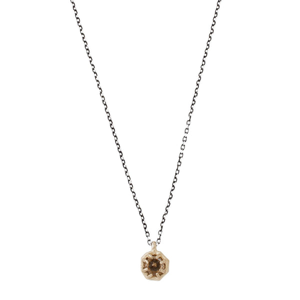 Lauren Wolf Tiny Champagne Quartz Necklace