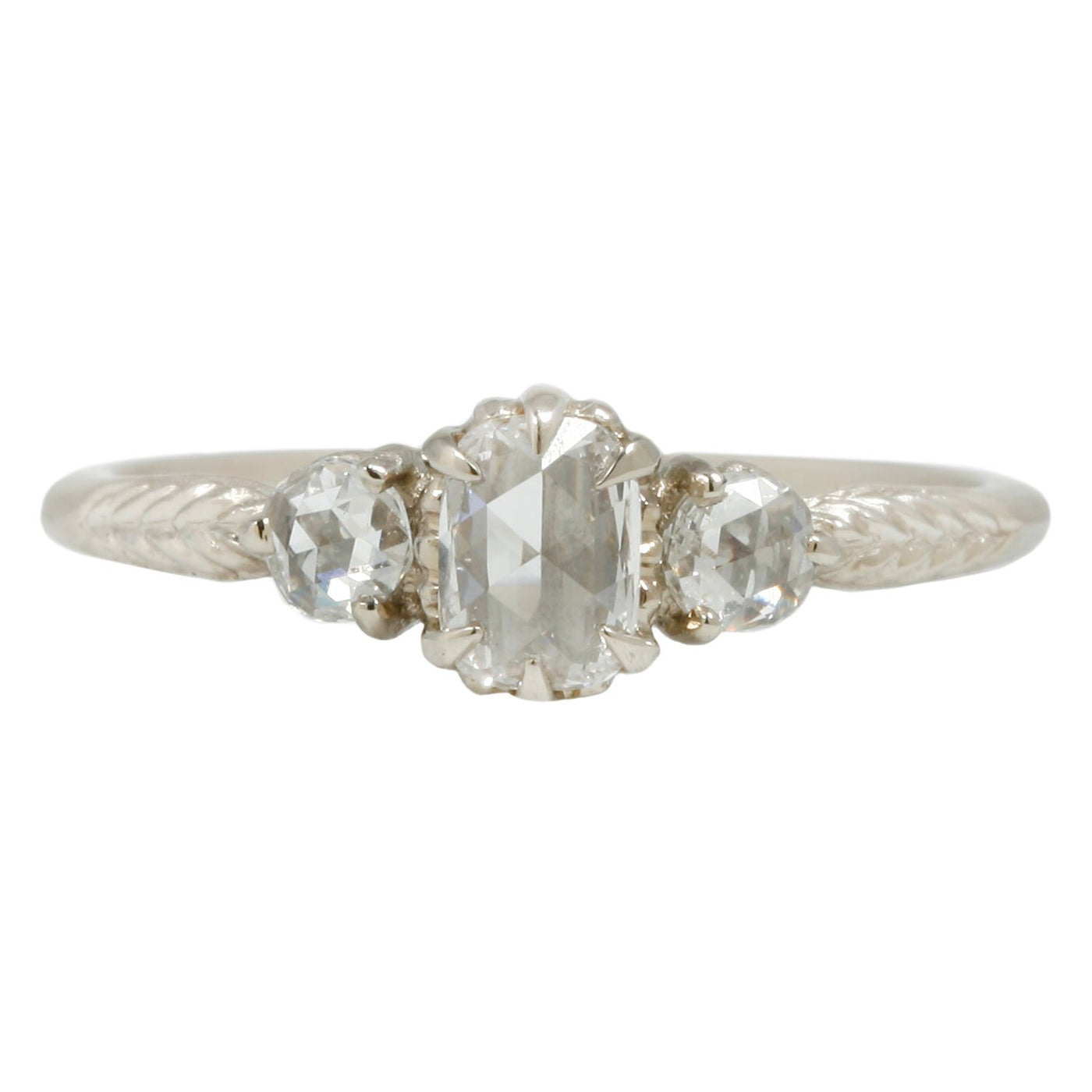Megan Thorne Three Diamond Evergreen Ring
