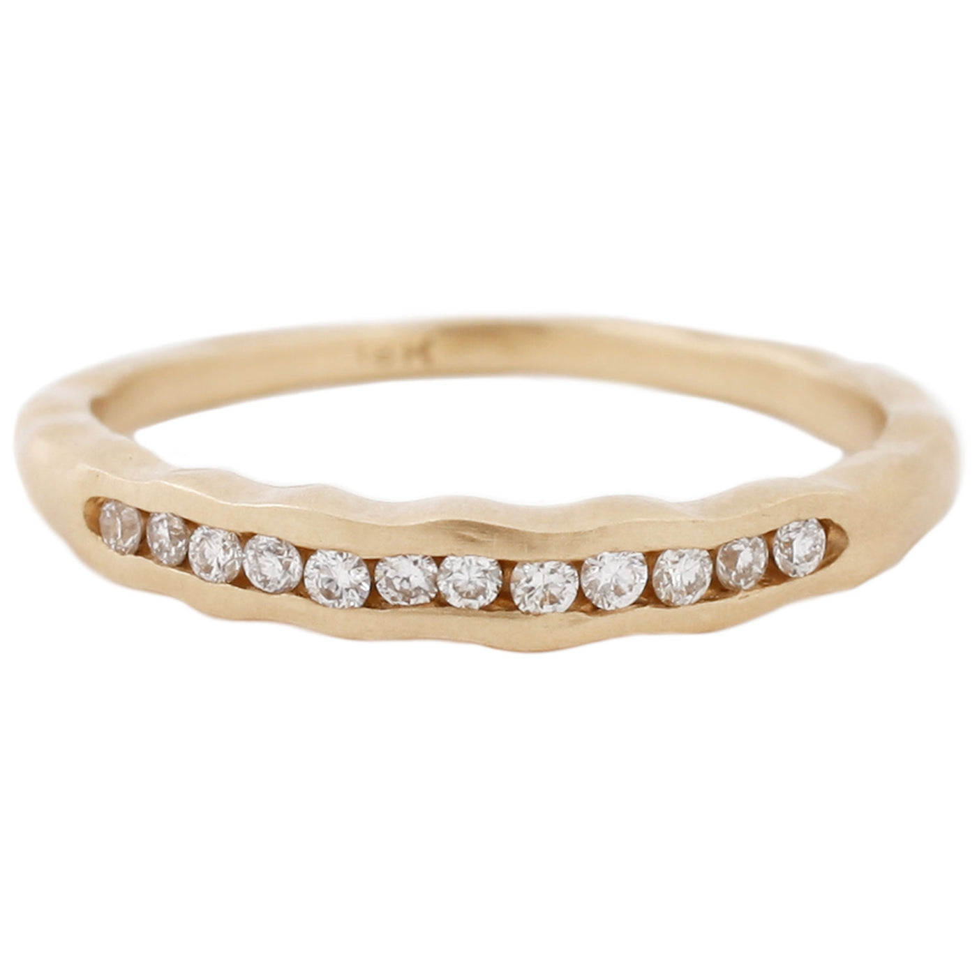 Sarah Swell Gold Tidal Diamond Band Ring