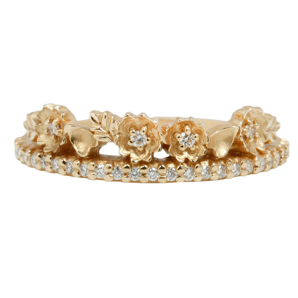 Megan Thorne Diamond Floral Tiara Ring