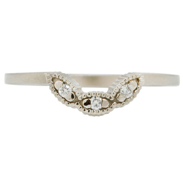 Megan Thorne Diamond Scallop Nesting Band