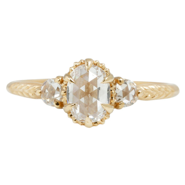 Megan Thorne Rose Cut Diamond Evergreen Ring