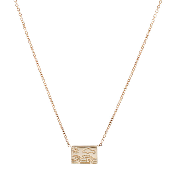 Aili Gold Postcard Necklace