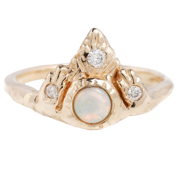 Communion By Joy Temple Of Light Ring Opal and Diamond