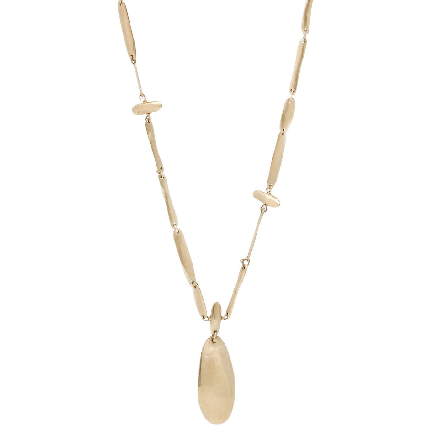 Melissa Joy Manning Yellow Gold Rosary Necklace