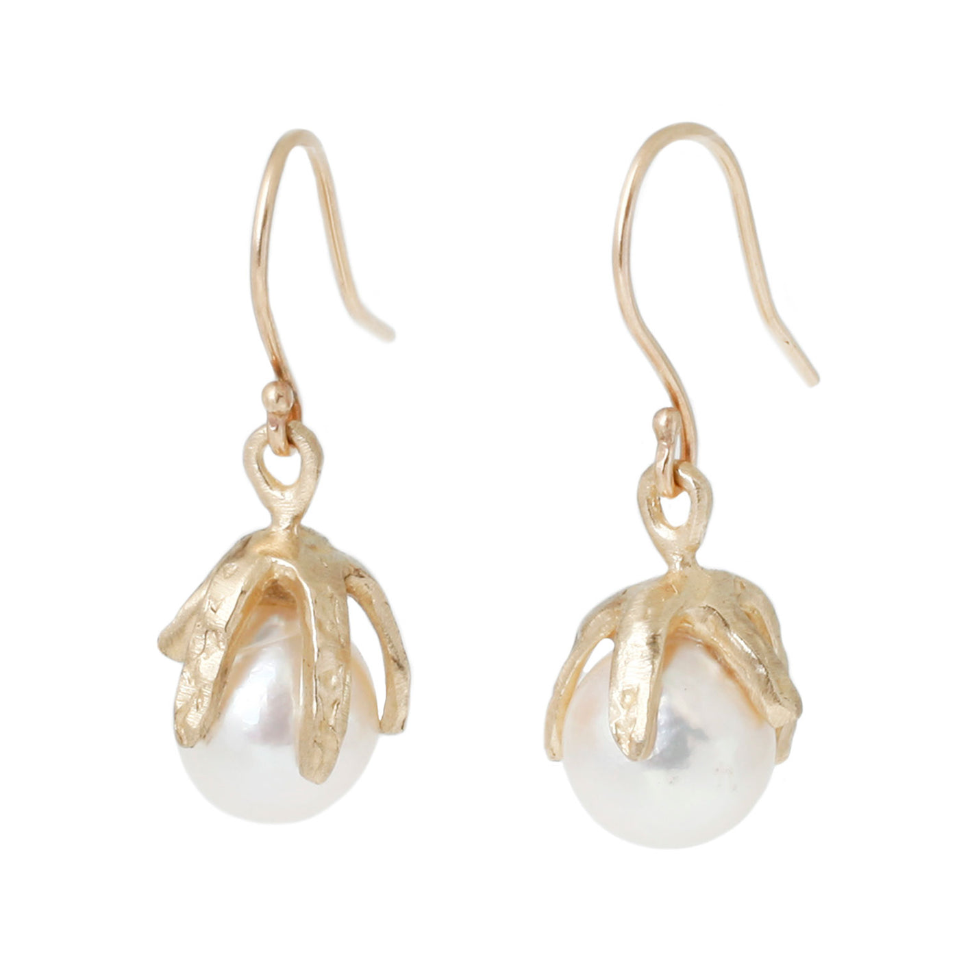 Gold Baroque Pearl Earrings
